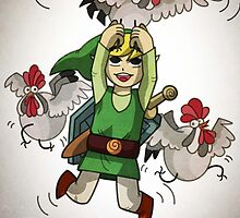 Flying link and cucoo by Ahuri3