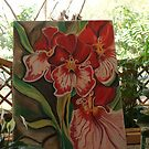 The Red Orchids on the balcony. by jemmanyagah