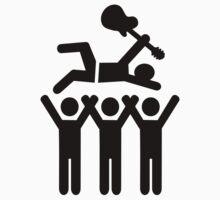 Stagediving guitarist festival by Designzz