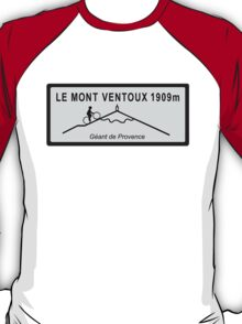 Mont Ventoux Mountain Road Sign Tour de France T-Shirt
