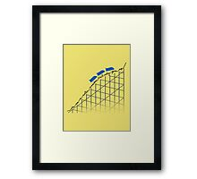 I'm on a roller coaster that only goes up (light shirts) Framed Print