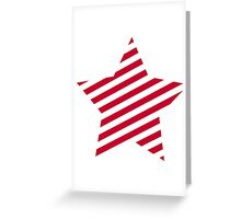 Red striped star Greeting Card