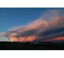 An unusual  cloud formation Photographic Print
