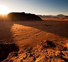 Sunset in Wadi Rum by Vit Kovalcik