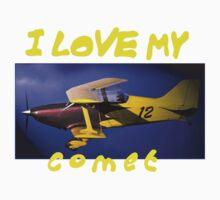 FK-12 Comet ultralight sports biplane aircraft I Love My Comet slogan by RedSteve