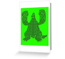 DAIKAIJU LORD - RADIOACTIVE Greeting Card