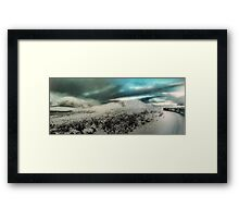 Through The White Wilderness on an Iron Horse Framed Print