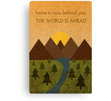 Home Behind, World Ahead Canvas Print