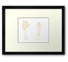 Flouncing Flora Framed Print