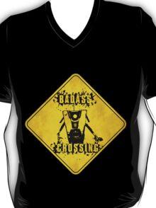 Claptrap Badass Crossing (Worn Sign) T-Shirt