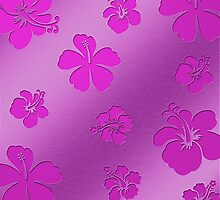 Aluminum Flowers pink by fuxart
