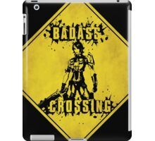 Athena Badass Crossing (Worn Sign) iPad Case/Skin