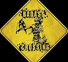 Mordecai Badass Crossing (Worn Sign) by WondraBox