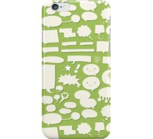 Comic Balloon Pattern iPhone Case/Skin