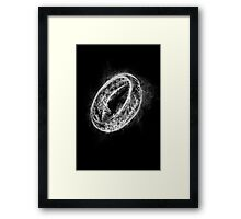 Ring Smoke Framed Print