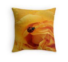 LadyBird Rose Throw Pillow