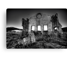 It's All Black and White - Blast Furnace Park , Lithgow NSW 0 The HDR Experience Canvas Print