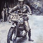 Steve McQueen 1964 ISDT East Germany by robkinseyart