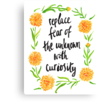 Curious Calendula Canvas Print