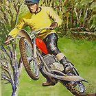 Joel Robert 6 time World Motocross Champion Commission by robkinseyart