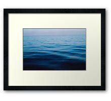 sunrise at sea, calm ocean ripples Framed Print