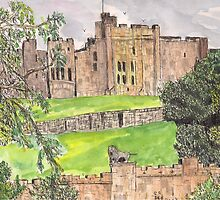 Alnwick castle by GEORGE SANDERSON