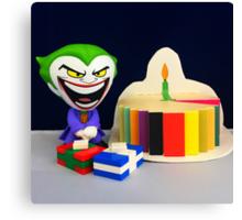 Retro Joker Birthday Canvas Print