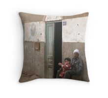 With Dad at the door Throw Pillow