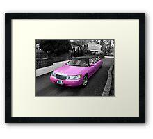 pink limo ... Framed Print