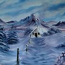 """""""Lilac Snow"""" - oil painting by Avril Brand"""