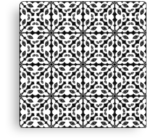 seamless pattern in black and white Canvas Print