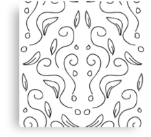 seamless pattern in black and white with a beautiful ornament Canvas Print