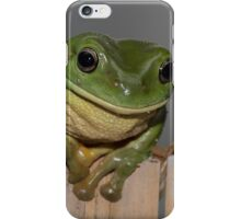 Frog on the fence - larger iPhone Case/Skin