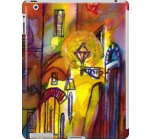 Medieval alley by night in Florence iPad Case/Skin
