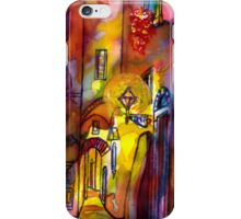 Medieval alley by night in Florence iPhone Case/Skin
