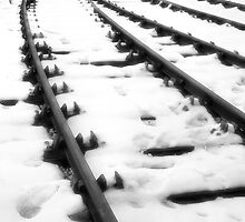 Tracks of man and steel by clickinhistory