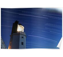 St Anthony's Lighthouse Star Trails Poster