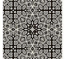 Indian ink pattern Photographic Print
