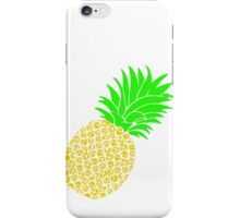 Bright Pineapple Pineapples Traditional Yellow Green  iPhone Case/Skin