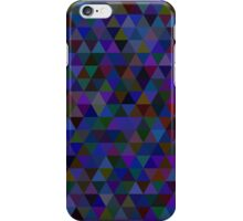 seamless pattern of colored triangles blue and other color iPhone Case/Skin