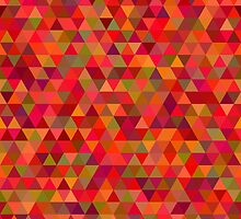 seamless pattern of pink triangles and other color by Ann-Julia