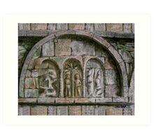 Relief Detail - Ardmore Waterford Art Print
