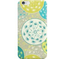 Pattern with decorative dandelion iPhone Case/Skin
