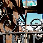 Rusty gate in Dublin by TheLilD