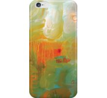 Abstract Orange Red Black Print from Original Painting iPhone Case/Skin