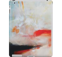 White Blue Print Abstract Painting iPad Case/Skin