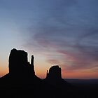 Day Break over Monument Valley by Barbara Burkhardt