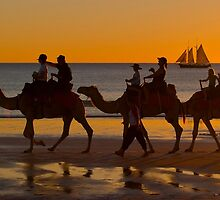 Sunset Routine at Cable Beach. WA. by johnrf
