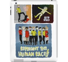 kick ass go to space represent the human race iPad Case/Skin