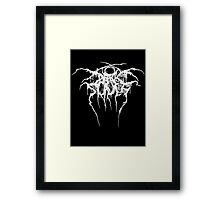 dark souls/darkthrone parody logo  Framed Print